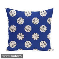 Blue/ Red/ Purple Decorative Holiday Geometric Print 20-inch Pillow