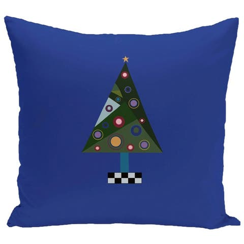 Blue/ Red/ Green/ Purple Decorative Holiday Pattern 20-inch Pillow