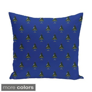 Blue/ Red/ Green/ Purple Decorative Holiday Print 20-inch Accent Pillow