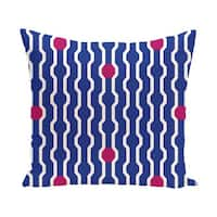 Blue/ Red/ Green Decorative Holiday Geometric Print  26-inch Pillow