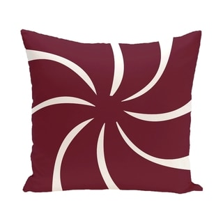 Blue/ Red/ Grey/ Green Decorative Holiday Geometric Pattern  26-inch Pillow (Red/Cranberry)