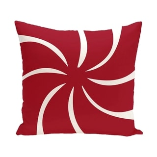 Blue/ Red/ Grey/ Green Decorative Holiday Geometric Pattern  26-inch Pillow (Red)