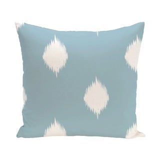 Blue/ Red/ Green/ Purple Decorative Holiday Ikat Print  26-inch Pillow (Light Blue)