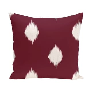 Blue/ Red/ Green/ Purple Decorative Holiday Ikat Print  26-inch Pillow (Cranberry)