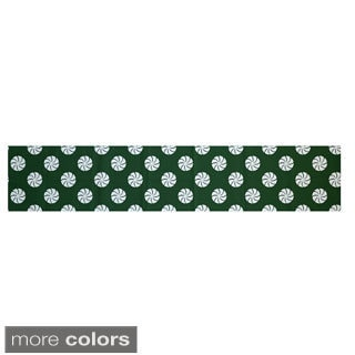 Red/ Grey/ Green Decorative Holiday Geometric Pattern 16 x 90-inch Table Runner