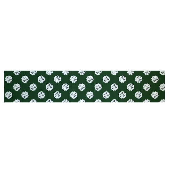 Shop Red Grey Green Decorative Holiday Geometric Pattern 16 X 90