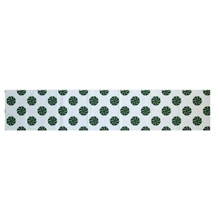Red/ Grey/ Green Decorative Holiday Geometric Print 16 x 90-inch Table Runner
