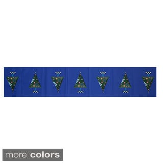 Blue/ Red/ Green/ Purple Decorative Holiday Print 16 x 90-inch Table Runner