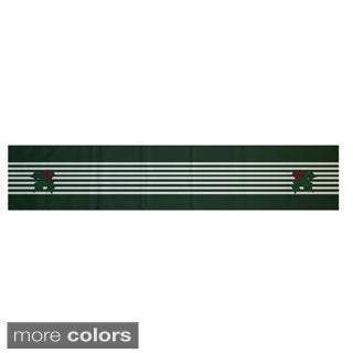Red/ Green Decorative Holiday Stripe Print 16 x 90-inch Table Runner (2 options available)