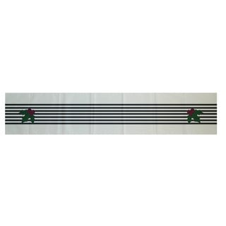 Red/ Black/ Green Decorative Holiday Stripe Print 16 x 90-inch Table Runner