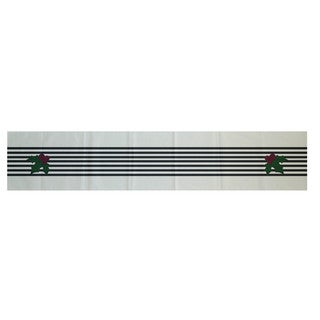 Red/ Black/ Green Decorative Holiday Stripe Print 16 x 90-inch Table Runner (3 options available)