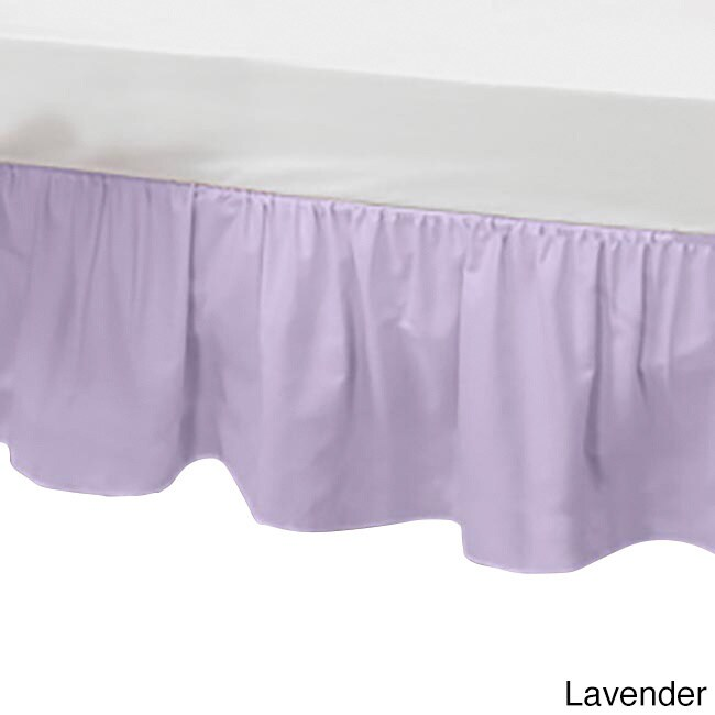 Baby Doll Solid Color Crib Skirt (Lavender), Purple