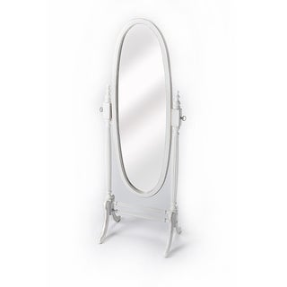 Oval Cheval Mirror - Cottage White