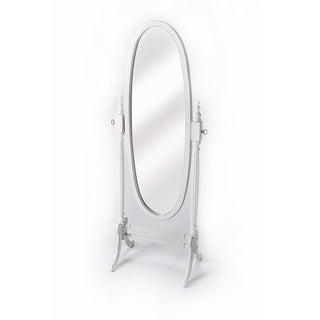 Oval Cheval Mirror - Cottage White