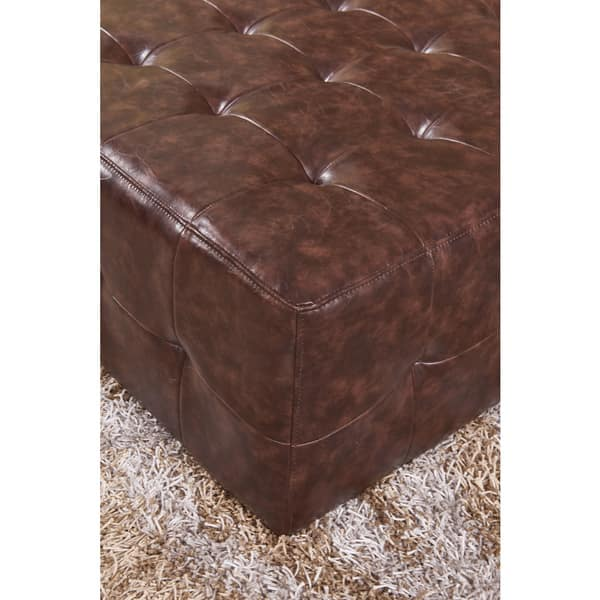 Prime Shop Classic Faux Leather Tufted Cocktail Ottoman Bench On Pabps2019 Chair Design Images Pabps2019Com