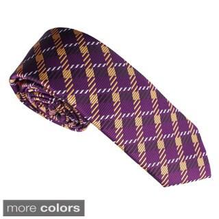Elie Balleh Milano Italy Boys' Microfiber Neck Tie (Option: Purple)