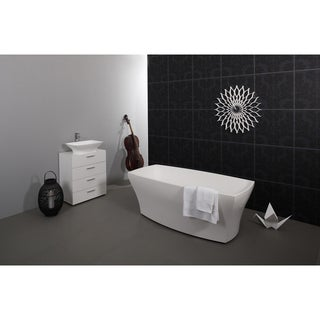 Aquatica Elise White Freestanding AquateX Bathtub