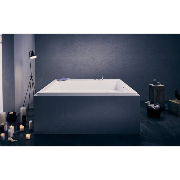 Aquatica Lacus White Drop-in Acrylic Bathtub. Opens flyout.