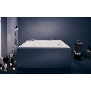 Aquatica Lacus White Drop-in Acrylic Bathtub