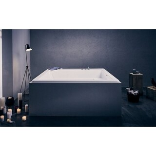 Aquatica Lacus White Drop-in Acrylic Bathtub