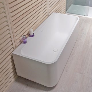 Aquatica Sincera-Wht Back To Wall Solid Surface Bathtub