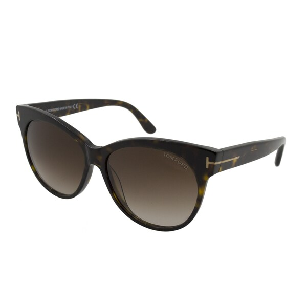 9a3bddd91b307 Shop Tom Ford Women's TF 330 Saskia 56F Cat Eye Sunglasses - Free ...