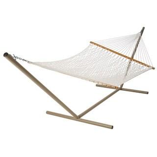 deluxe white polyester rope hammock hammocks  u0026 porch swings for less   overstock    rh   overstock