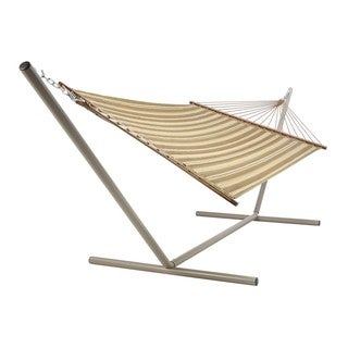 Large Quilted Neutral Stripe Hammock