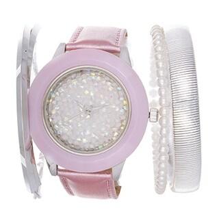 Via Nova Arm Candy Ladie's Fashion Purple Watch with a Set of 3 Bracelets