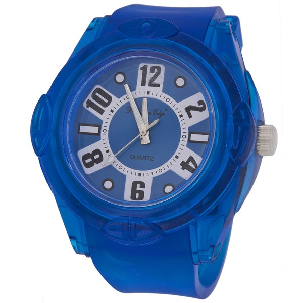 Zunammy Men's Round Case / Blue Rubber Strap Watch