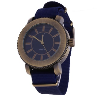 Xtreme Copper Zunammy Round Blue Nylon Tween Jumbo Watch