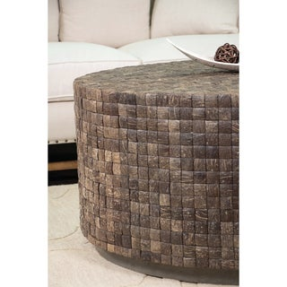 East At Main's Decorative Easley Brown Round Coffee Table