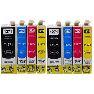 127 T127 Ink for Epson Stylus NX530 NX625 WorkForce 3520 635 3530 3540 7010 645 7510 7520 60 840 545 630 633 845 (8-pack)