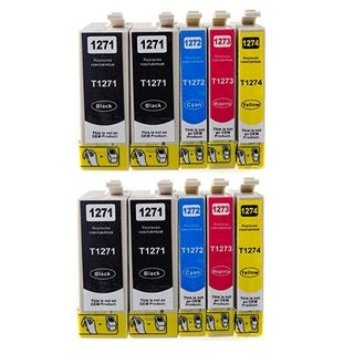 127 T127 Ink for Epson Stylus NX530 NX625 WorkForce 3520 635 3530 3540 7010 645 7510 7520 60 840 545 630 633 845 (10-pack)