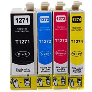127 T127 Ink for Epson Stylus NX530 NX625 WorkForce 3520 635 3530 3540 7010 645 7510 7520 60 840 545 630 633 845 (Pack of 4)