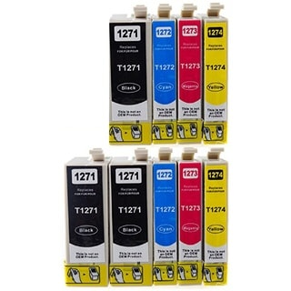 127 T127 Ink for Epson Stylus NX530 NX625 WorkForce 3520 635 3530 3540 7010 645 7510 7520 60 840 545 630 633 845 (Pack of 9)