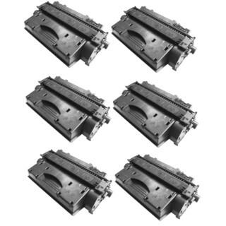Replacing CE505X 505X Toner Cartridge for HP LaserJet P2050 P2055 P2055d P2055x P2055dn Printers (Pack of 6)