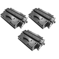 Replacing CE505X 505X Toner Cartridge for HP LaserJet P2050 P2055 P2055d P2055x P2055dn Printers (Pack of 3)