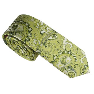 Elie Balleh Milano Italy Boys' Paisley Neck Tie (Option: Green)