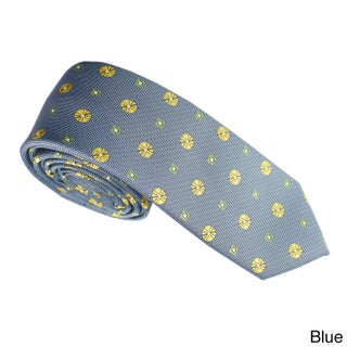 Elie Balleh Milano Italy Geometric Embroidered Neck Tie (Option: Blue)
