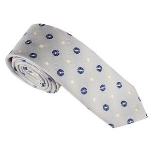 Elie Balleh Milano Italy Geometric Embroidered Neck Tie