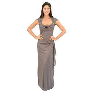 R&M Richards Glitter Matte Evening Gown