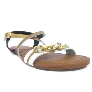 Olivia Miller 'Sura' Large Chain Tonal Strap Gladiator Sandals