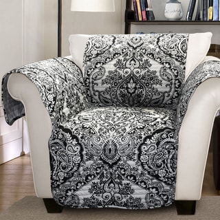 Lush Decor Aubree Armchair Black/ White Furniture Protector Slipcover