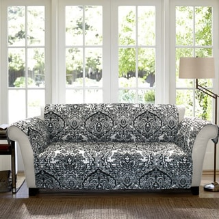 Lush Decor Aubree Loveseat Black/ White Furniture Protector Slipcover