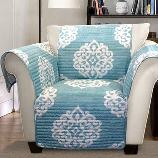 Lush Decor Sophie Armchair Blue Furniture Protector Slipcover