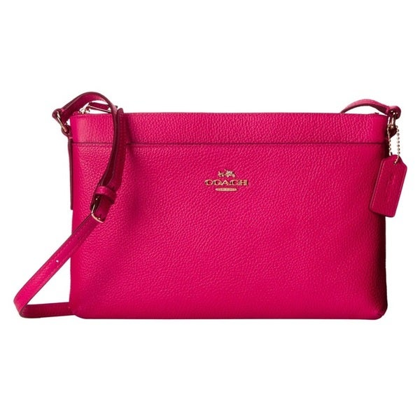 shop coach pebble leather journal crossbody bag free shipping rh overstock com