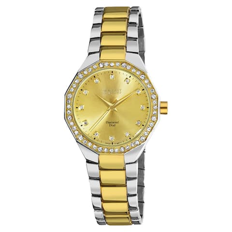 August Steiner Women's Diamond Swiss Quartz Alloy Two-Tone Bracelet Watch