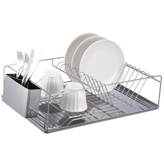 Home Basics Chrome Dish Rack