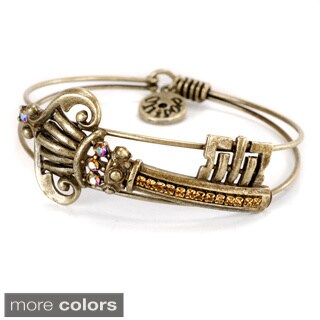 Sweet Romance Victorian Gothic Castle Key Bangle Bracelet